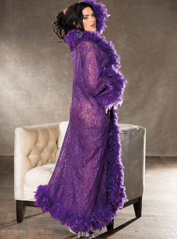 Purple Sequin Robe or Corset