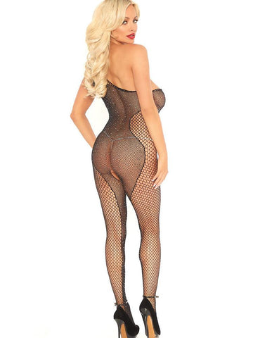 Drop Dead Diva Body Stocking w/Rhinestones