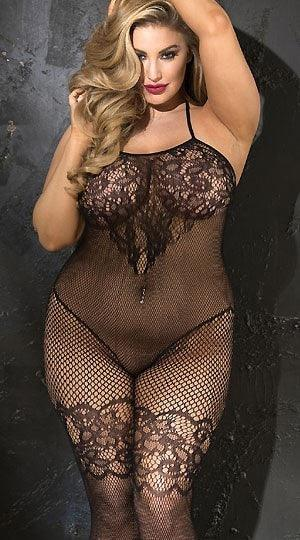 Pleasurable Entanglement Bodystocking Plus Size