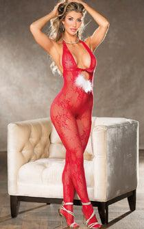 Santa Baby Crotchless Body Stocking
