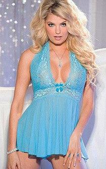 Tease & Please Babydoll Aqua