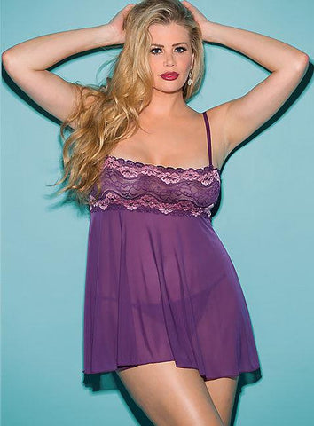 Sweet & Sexy Purple Babydoll