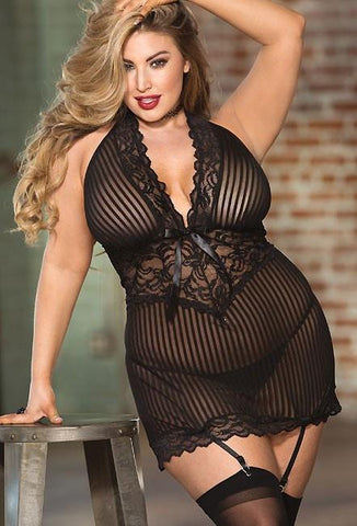 Submissive Pleasure Chemise Plus Size