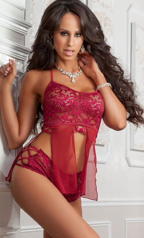 Ruby Snow Babydoll Set