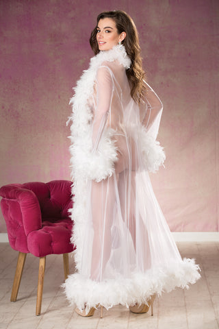 Luxury Feather See-thru Robe
