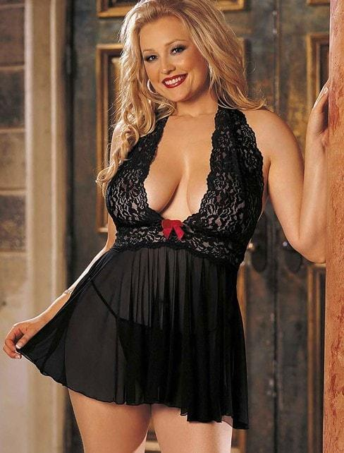 Tease & Please Babydoll Plus Size