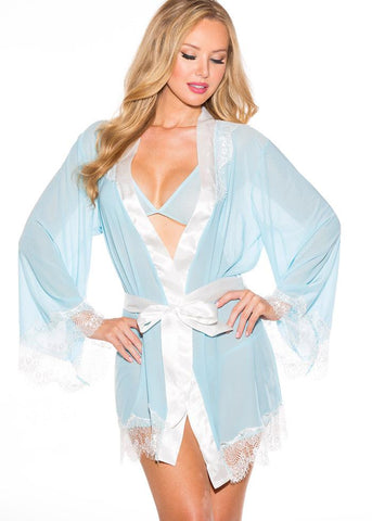 Baby's in Blue Thong & Robe 3pc Set