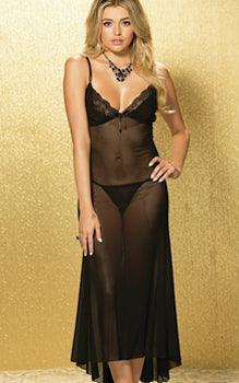 Sheer Midnight Holiday Gown