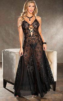 Extravagant Black Lace Gown