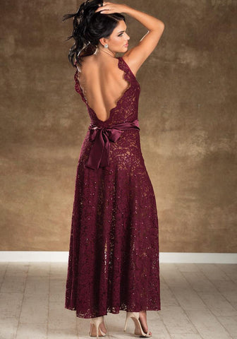 Formal Affair Sequined Long Gown or Robe