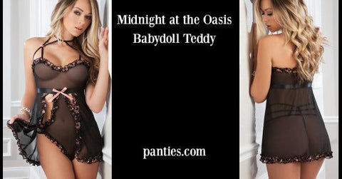Midnight at the Oasis Babydoll Teddy