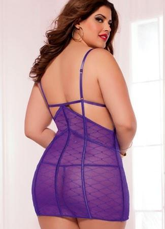 Purple Haven Chemise Plus Size