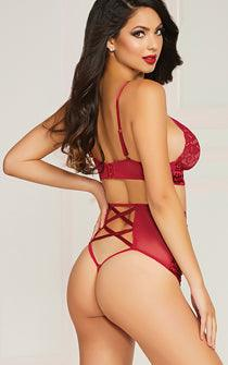 Red Velvet Bra & Panty Set