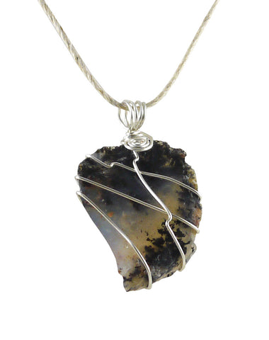 Dendritic agate pendant wire wrapped necklace 1 34 prosperity dendritic agate pendant wire wrapped necklace 1 34 prosperity aloadofball Images