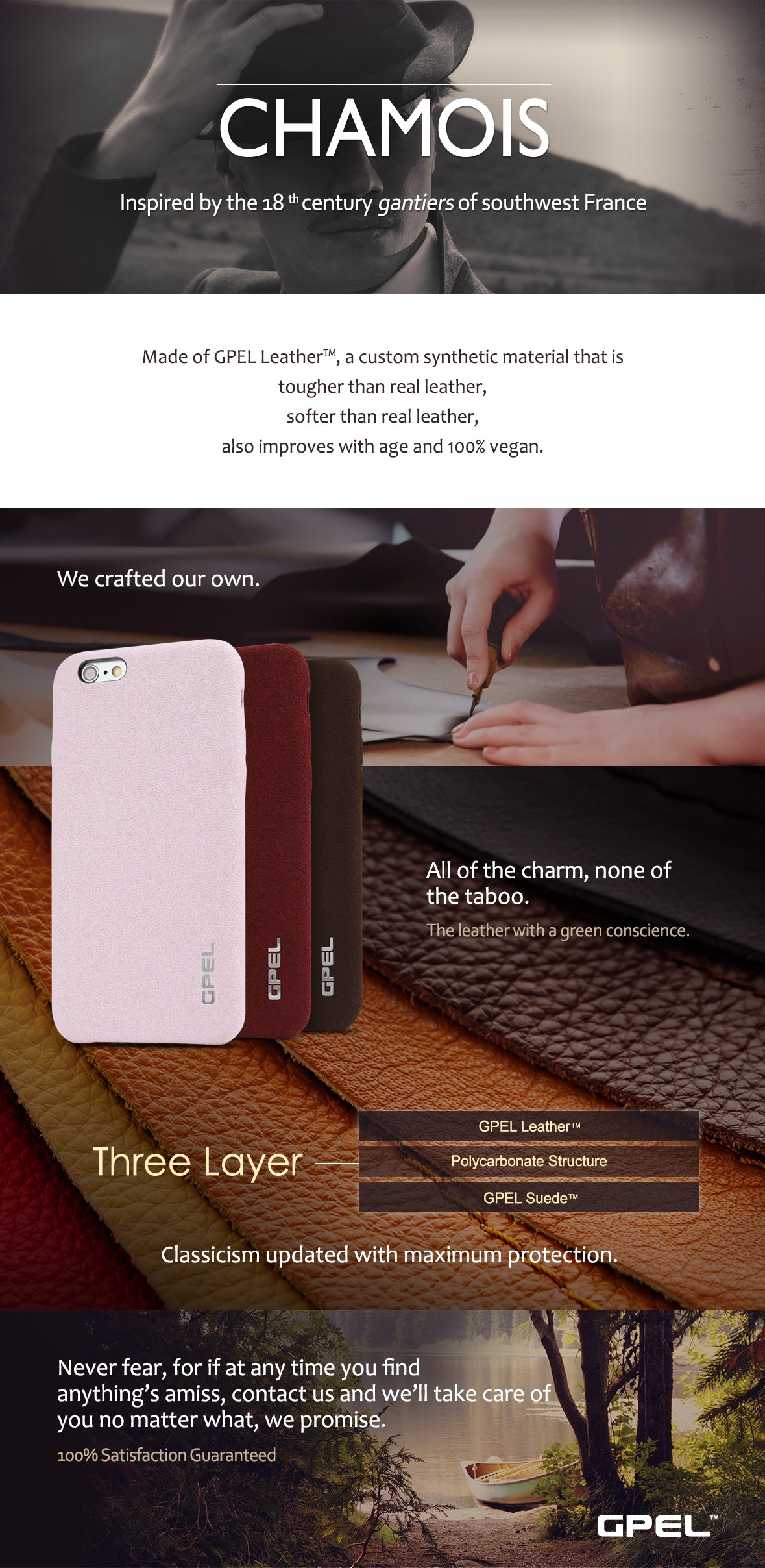 iPhone 6 6s GPEL Chamois Leather Case