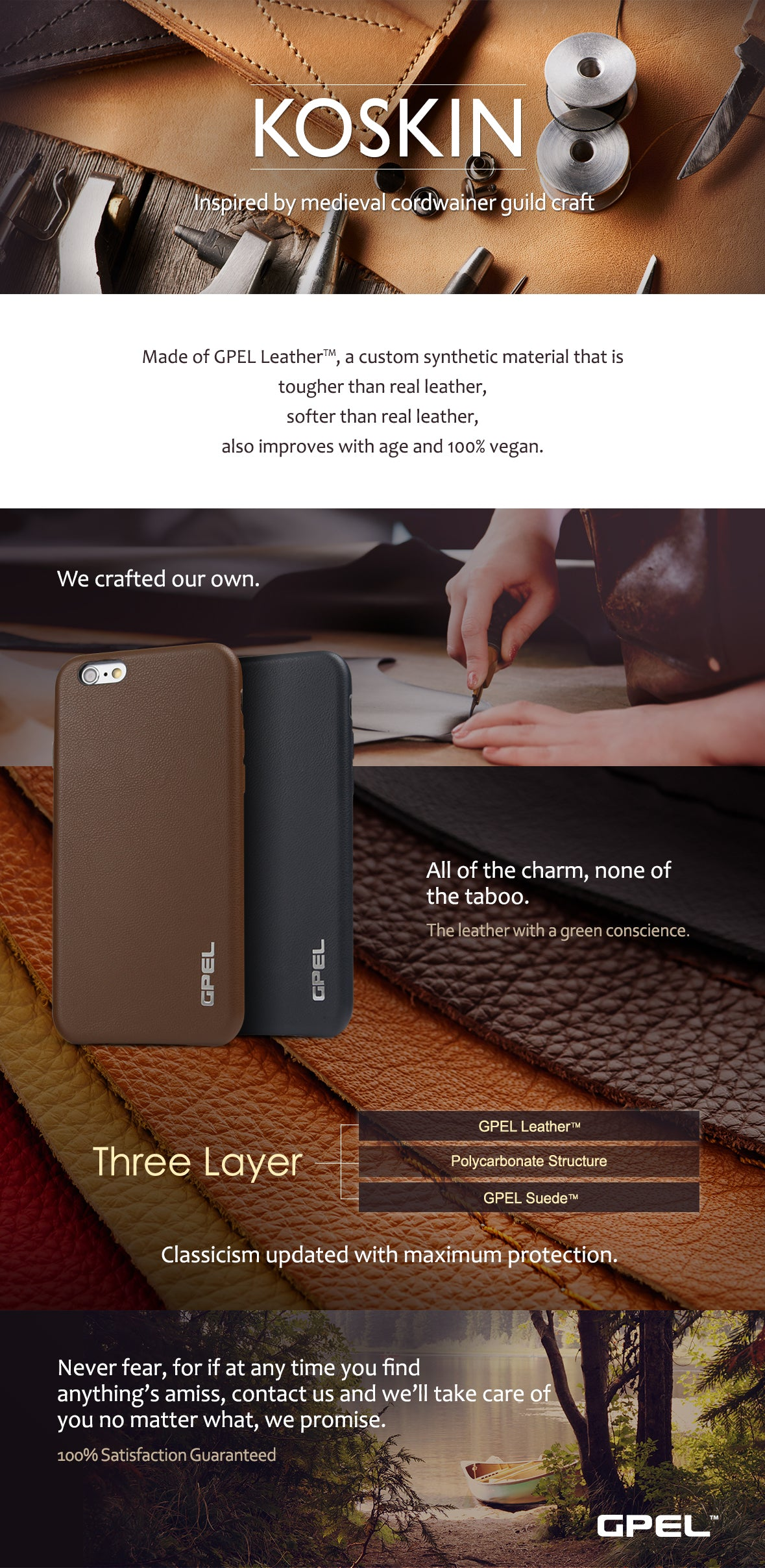 iPhone 6 6s GPEL Koskin Leather Case