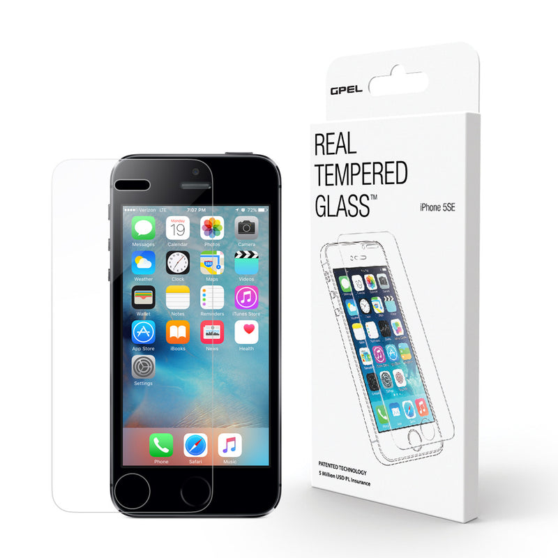 iPhone SE Screen Protector - Real Tempered Glass