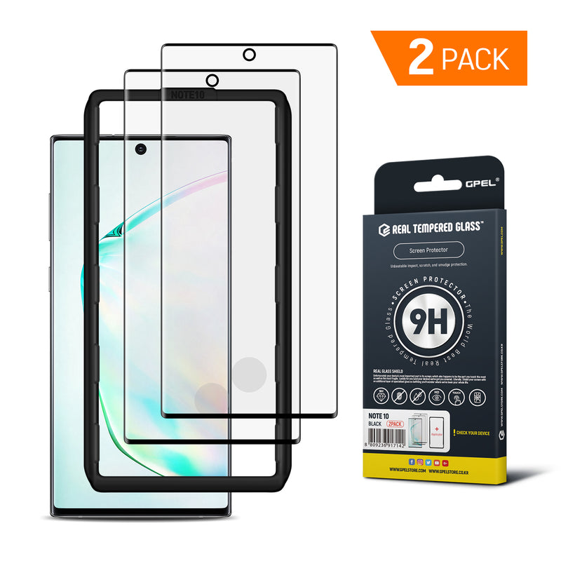 Galaxy Note 10 - Full Coverage Tempered Glass Screen Protector (2-Pack)