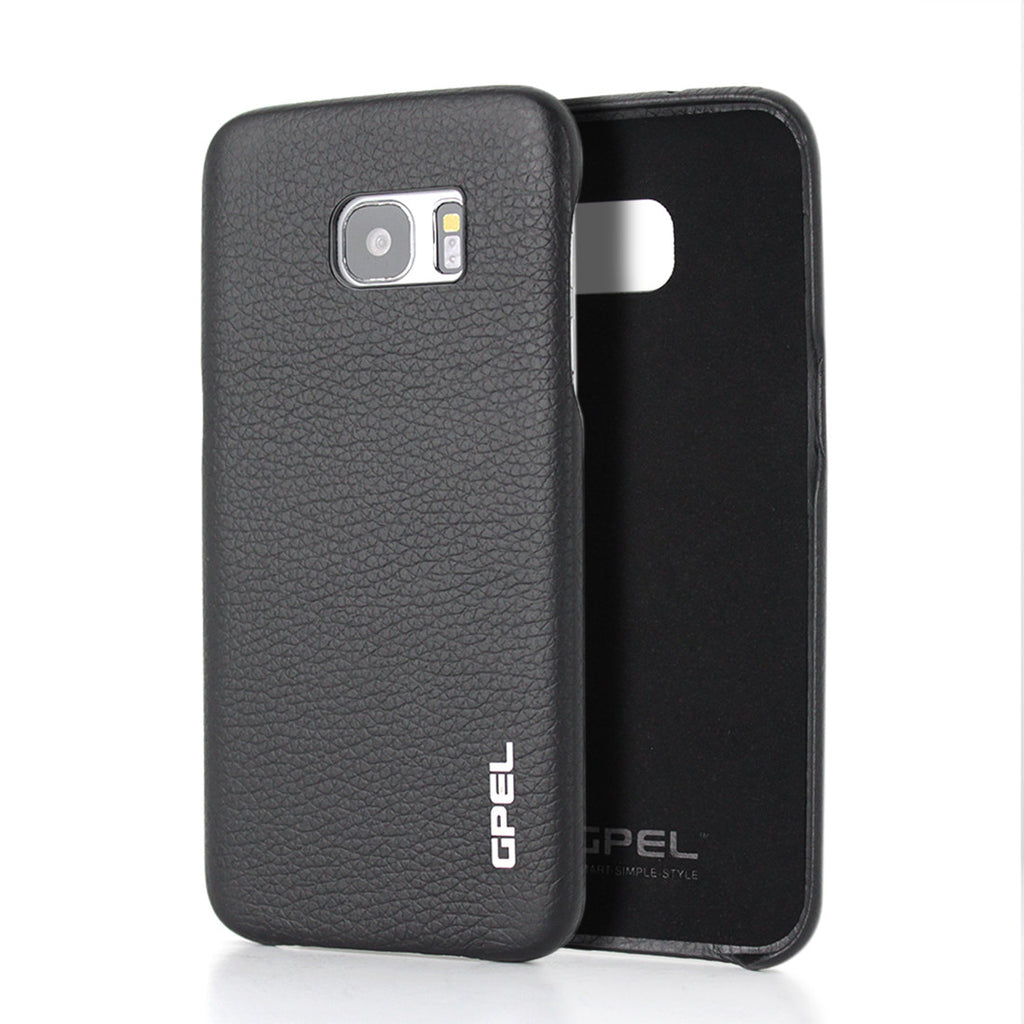 Galaxy S7 Edge Case GPEL Real Leather - Black
