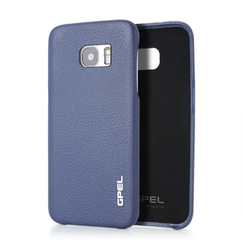 Galaxy S7 Edge Case GPEL Real Leather - Navy