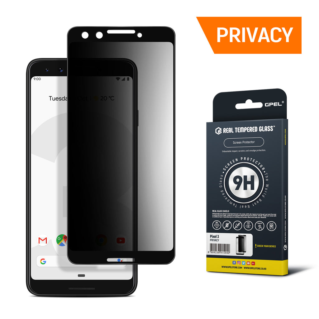 Google Pixel 3 Screen Protector Tempered Glass [Privacy]