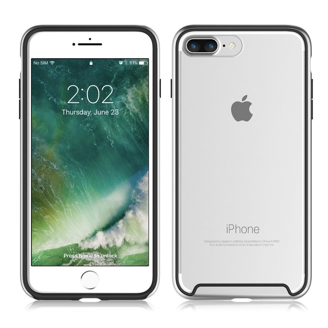 iphone 7 silver phone cases