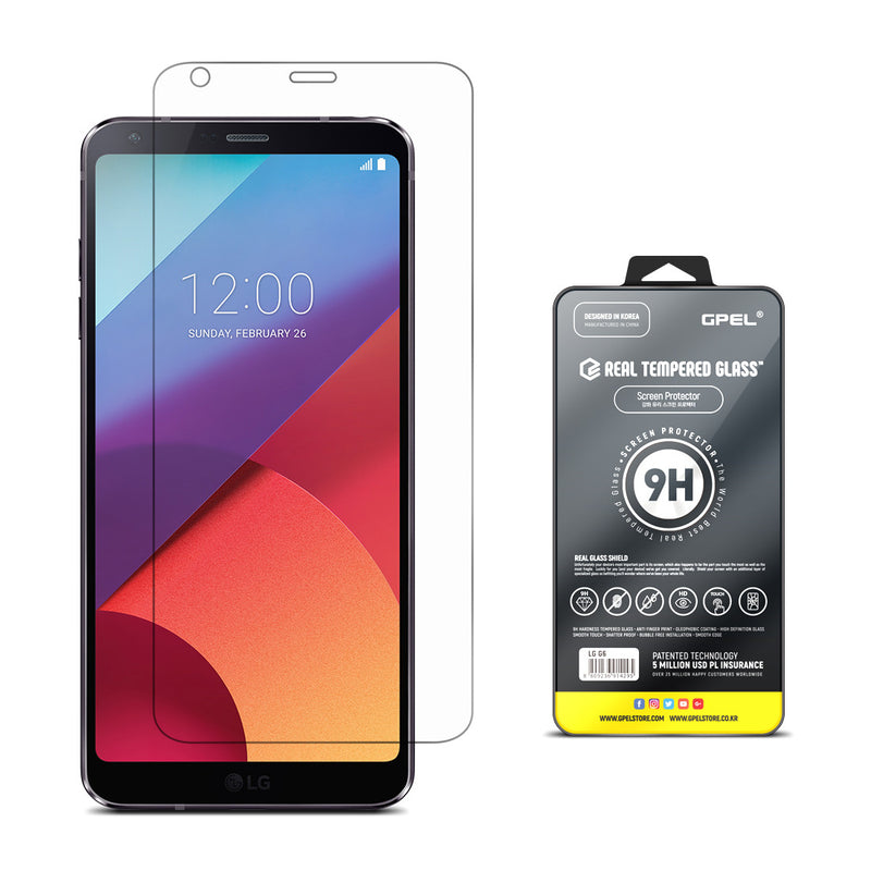 LG G6 Screen Protector - Real Tempered Glass