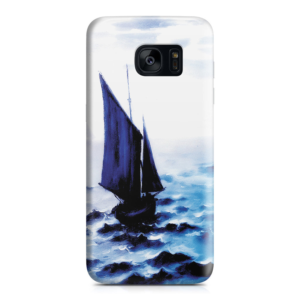 Galaxy S7 Edge Case - Boats Leaing the Harbor by Claude Monet