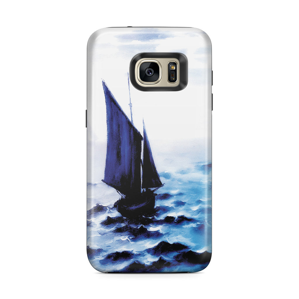Galaxy S7 Edge Adventure Case - Boats Leaing the Harbor by Claude Monet
