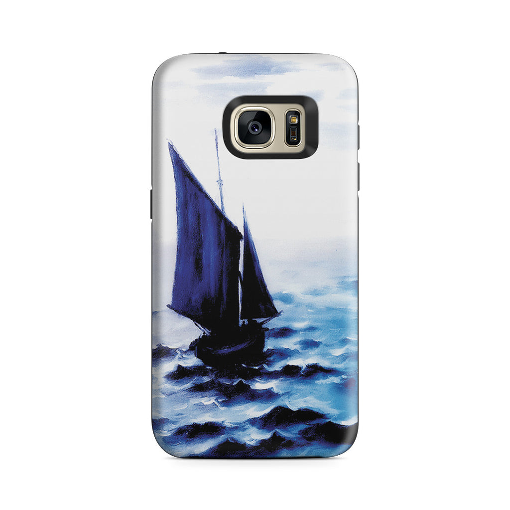Galaxy S7 Adventure Case - Boats Leaing the Harbor by Claude Monet