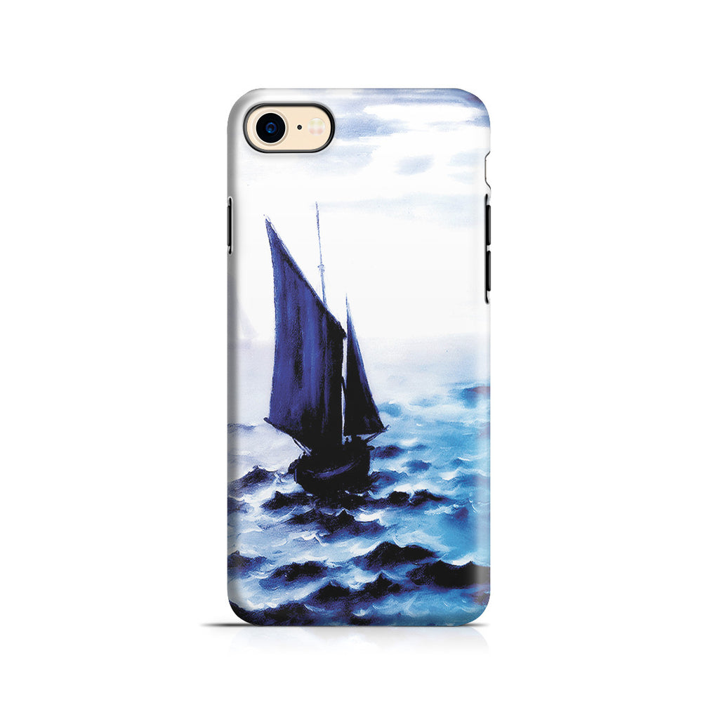 iPhone 7 Adventure Case - Boats Leaing the Harbor by Claude Monet