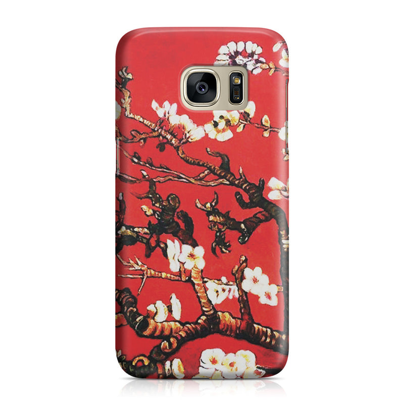 Galaxy S7 Case - Branches of an Almond Tree in Blossom, Ruby Red by Vincent Van Gogh