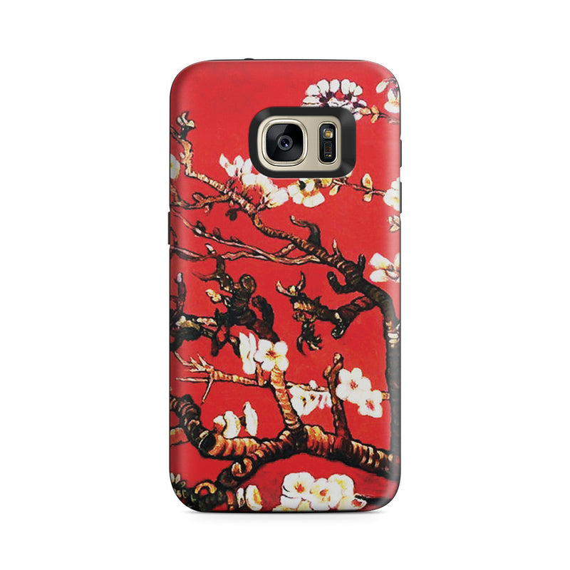 Galaxy S7 Adventure Case - Branches of an Almond Tree in Blossom, Ruby Red by Vincent Van Gogh
