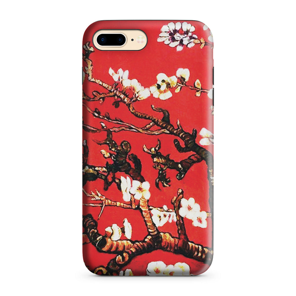 iPhone 7 Plus Adventure Case - Branches of an Almond Tree in Blossom, Ruby Red by Vincent Van Gogh