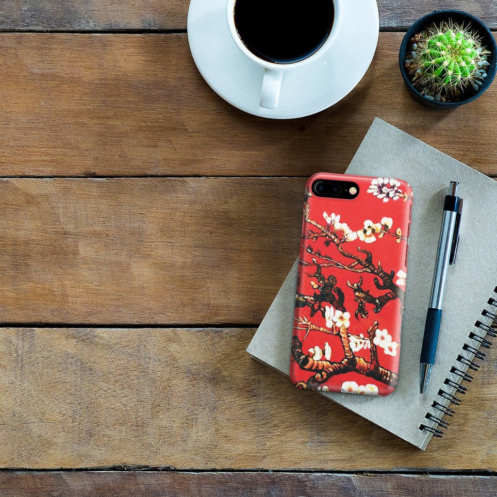 iPhone 8 Plus Case - Branches of an Almond Tree in Blossom, Ruby Red by Vincent Van Gogh