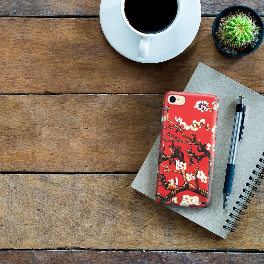 iPhone 7 Case - Branches of an Almond Tree in Blossom, Ruby Red by Vincent Van Gogh