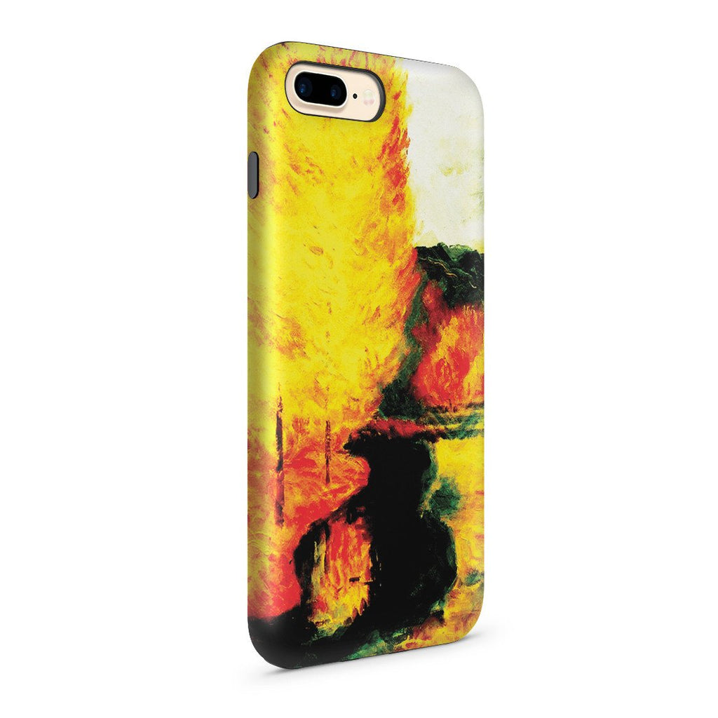 iPhone 8 Plus Adventure Case - By the Stream, Autumn, 1885 by Paul Gauguin