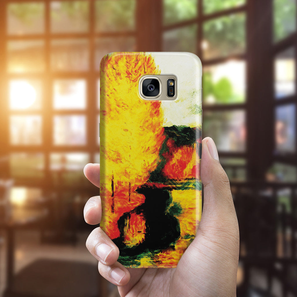 Galaxy S7 Edge Case - By the Stream, Autumn, 1885 by Paul Gauguin