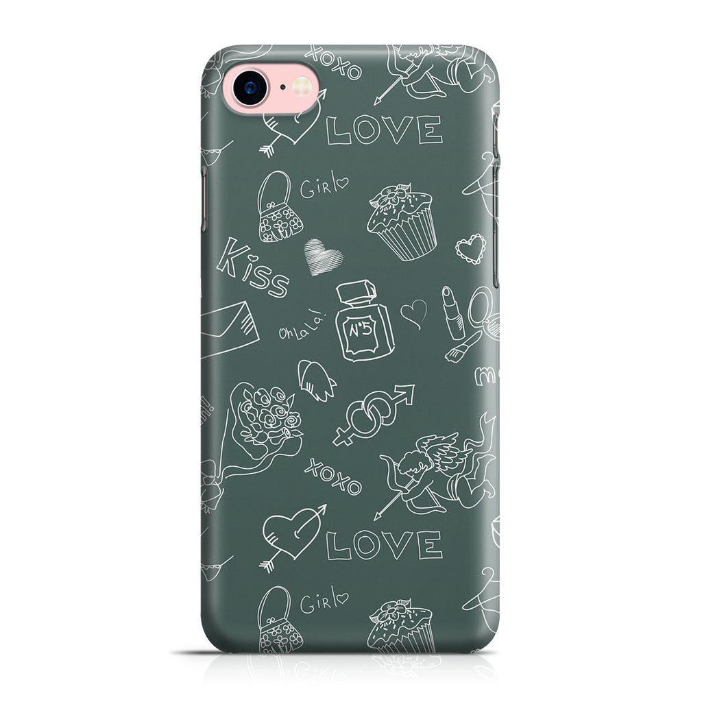 iPhone 7 Case - Love Doodles