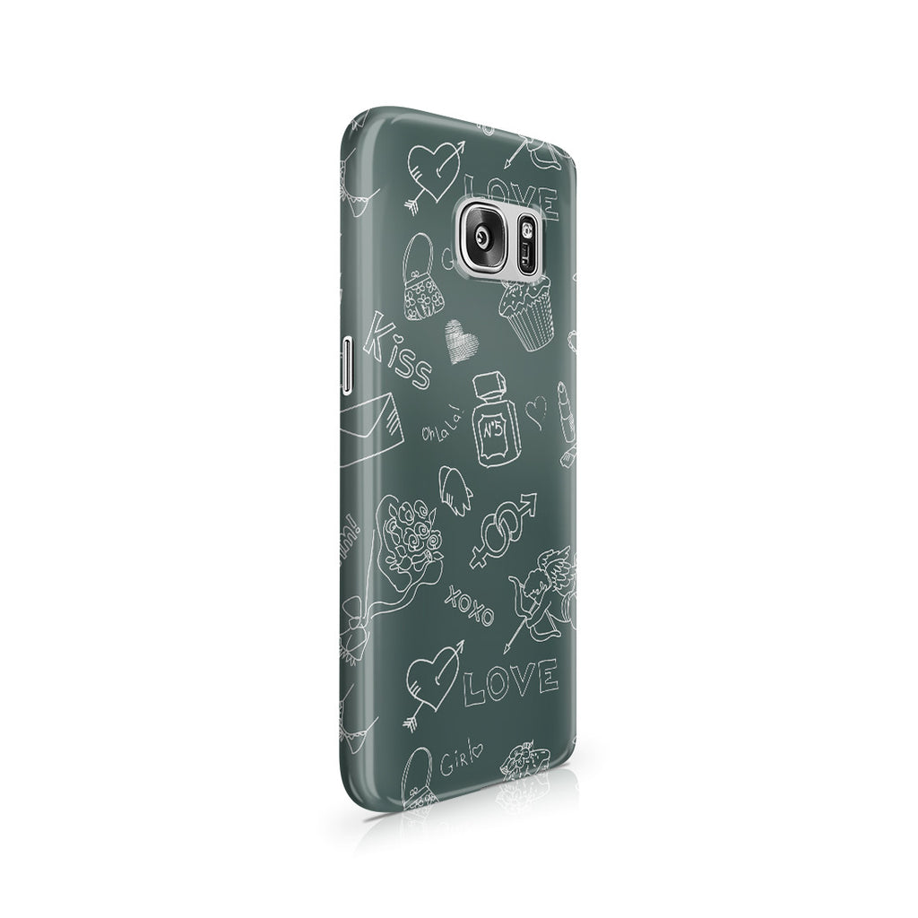 Galaxy S7 Case - Love Doodles