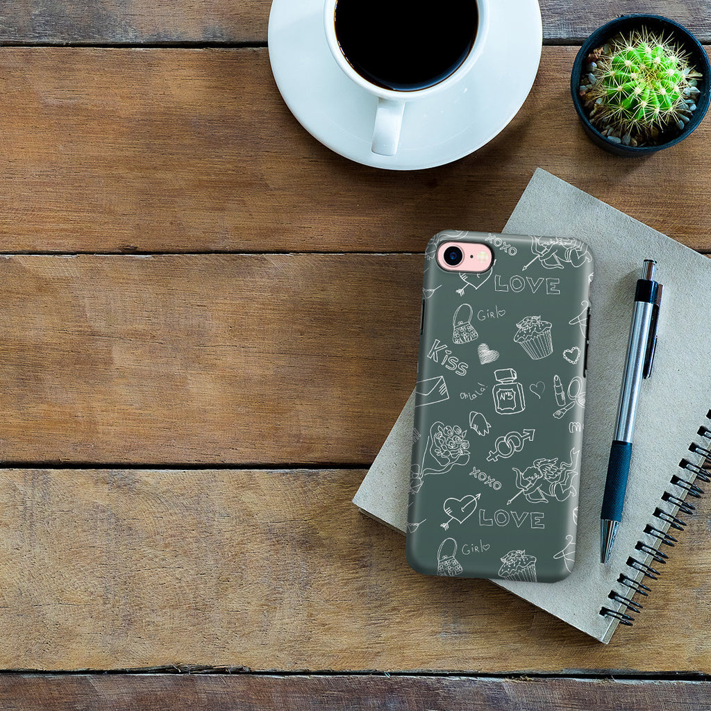 iPhone 7 Adventure Case - Love Doodles