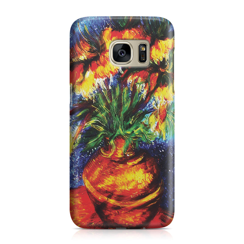Galaxy S7 Case - Crown Imperial Fritillaries In a Copper Vase by Vincent Van Gogh