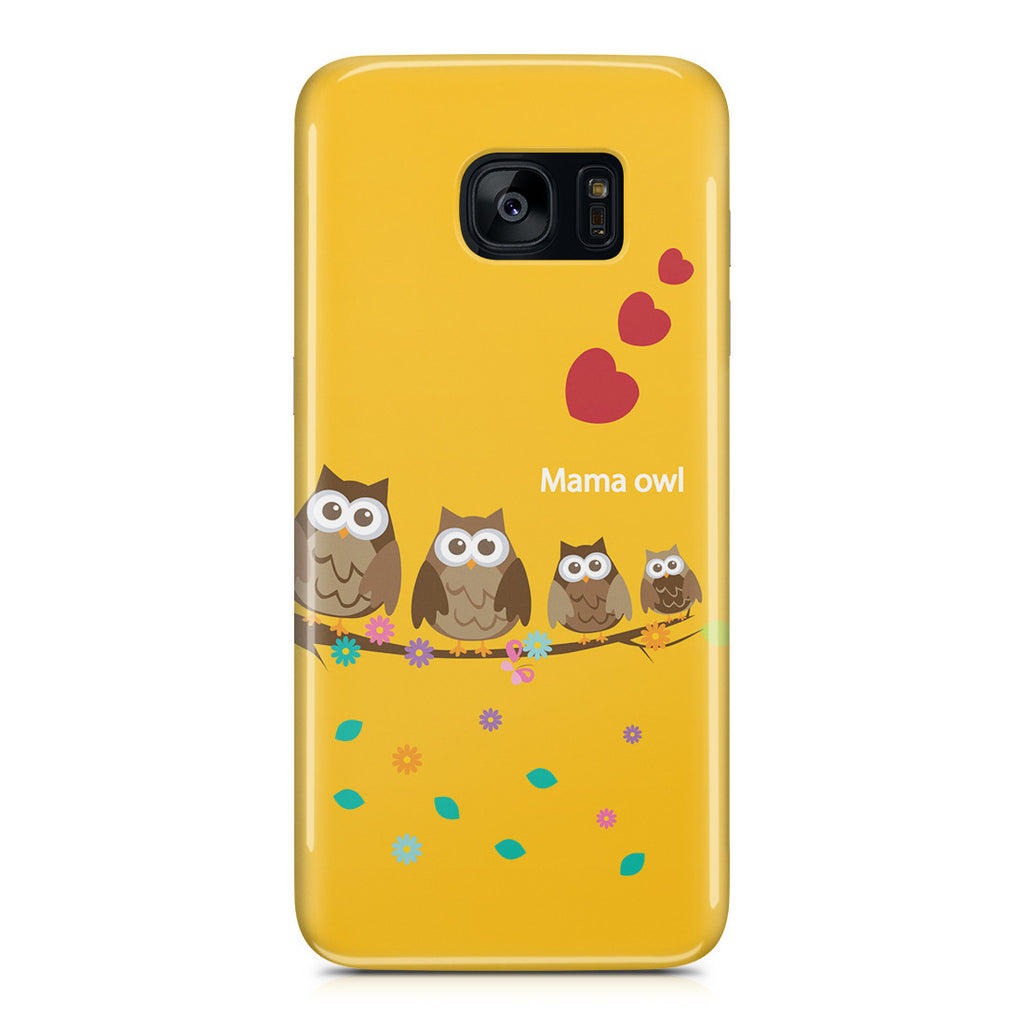 Galaxy S7 Edge Case - Owl Family