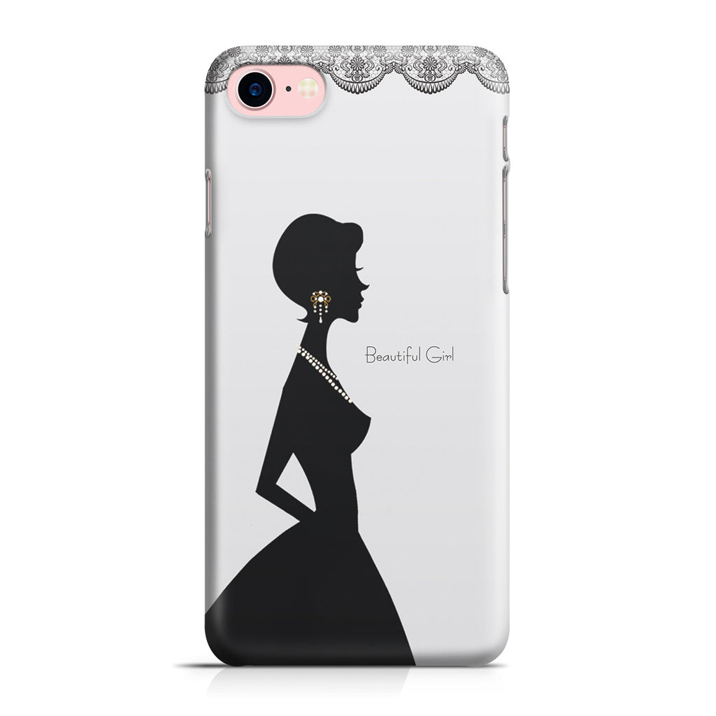 iPhone 7 Case - Silver Silhouette