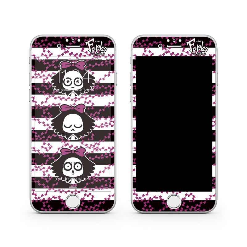 iPhone 8  Vivid Glass Screen Protector - Punk Rock Girl