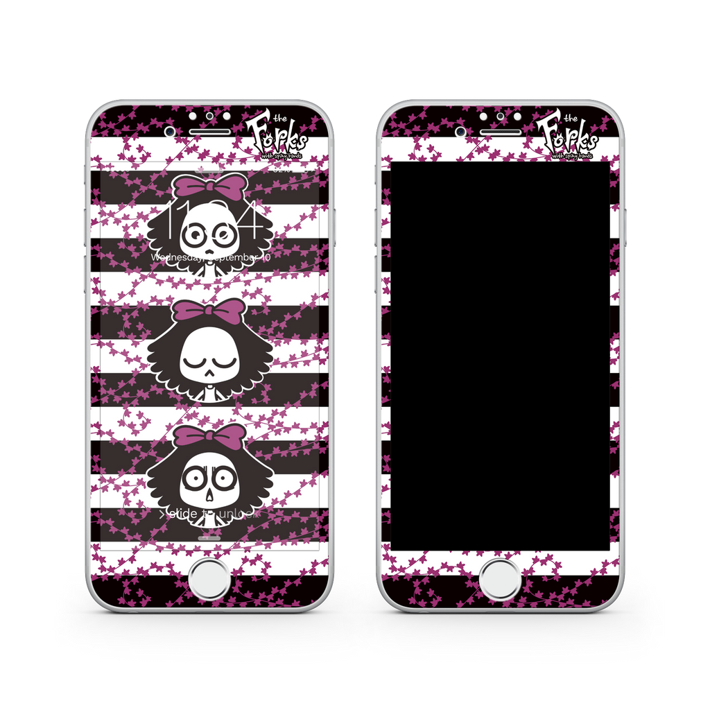 iPhone 7  Vivid Glass Screen Protector - Punk Rock Girl