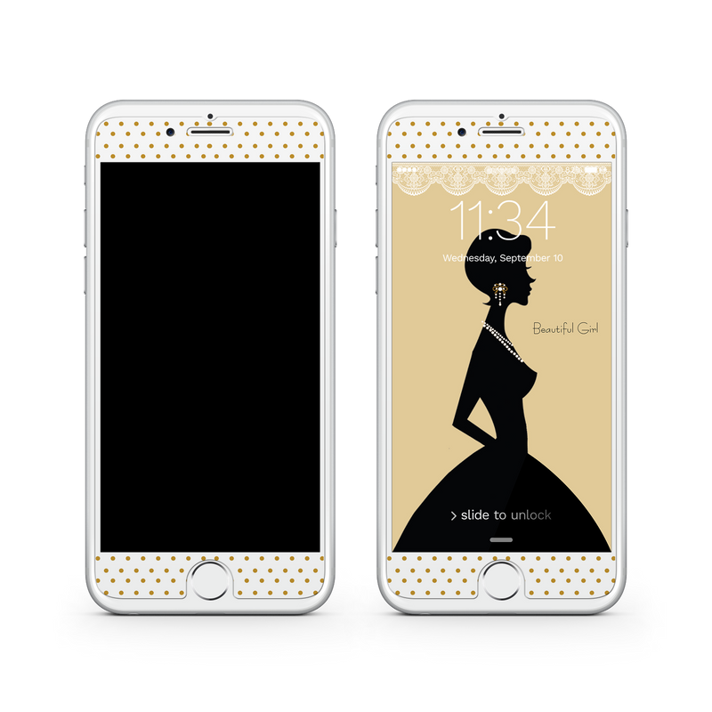 iPhone 6 | 6s  Vivid Glass Screen Protector - Gold Silhouette