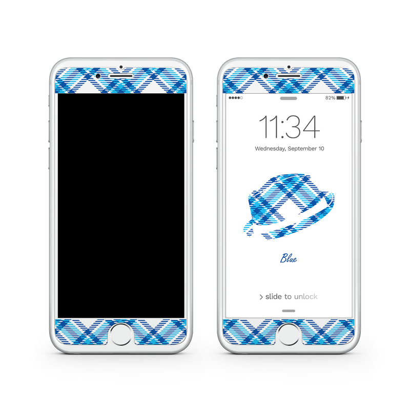 iPhone 6 | 6s Plus Vivid Glass Screen Protector - Blue Bro's Fedora