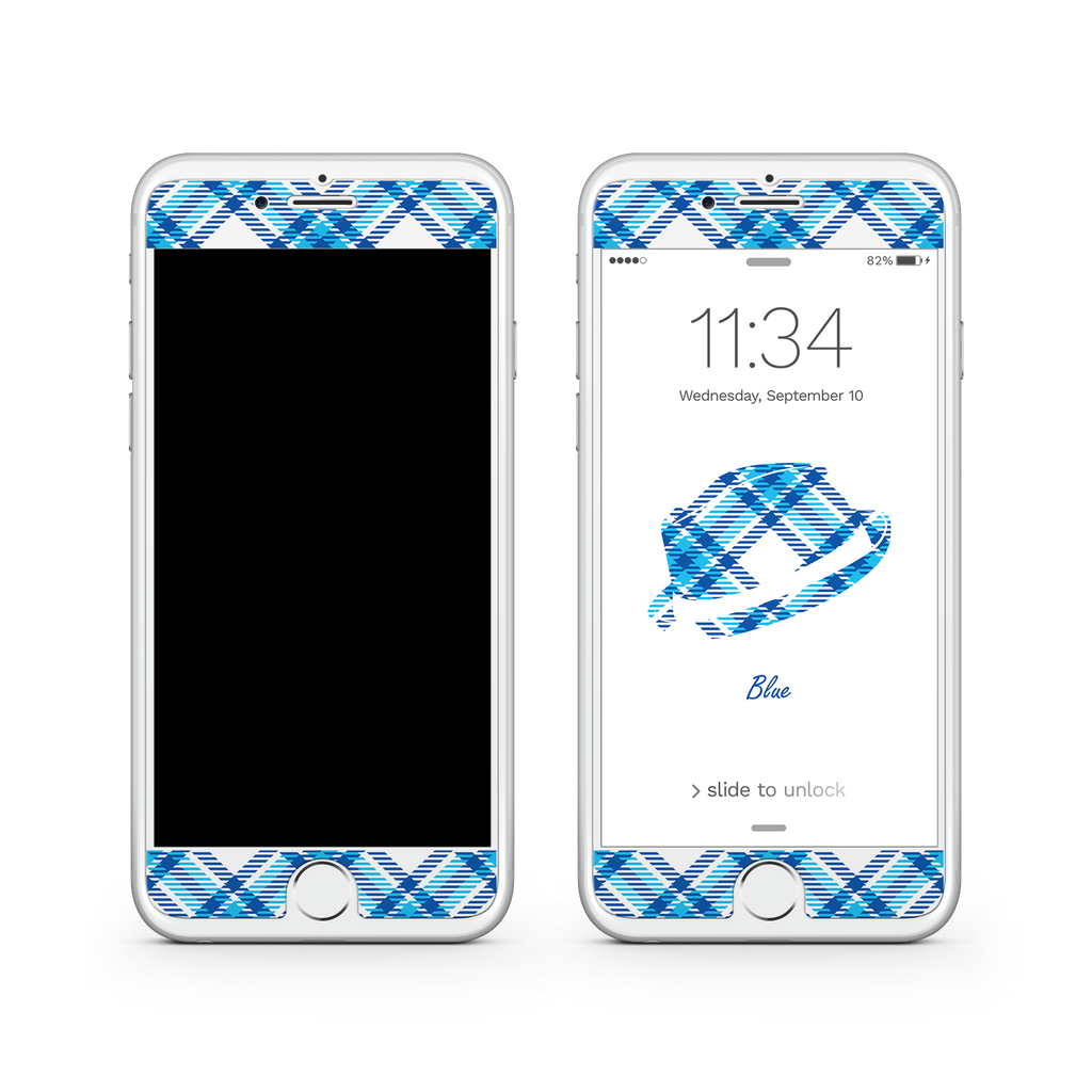 iPhone 6 | 6s  Vivid Glass Screen Protector - Blue Bro's Fedora