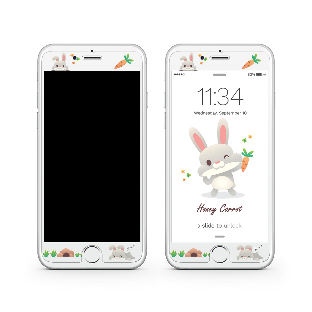 iPhone 7 Plus Vivid Glass Screen Protector - Honey Carrot